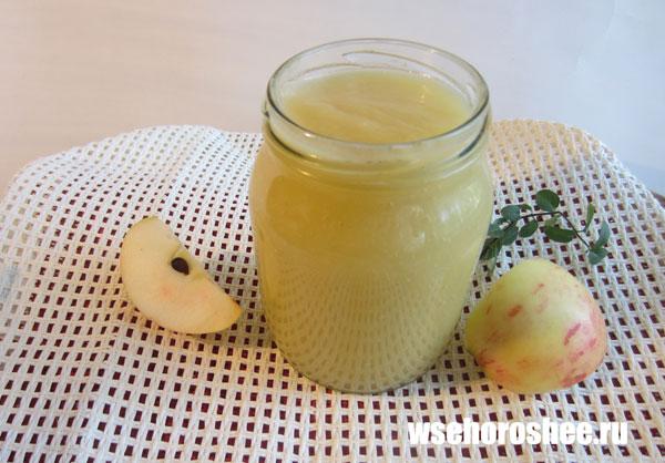 Яблочное пюре на зиму без сахара в домашних условиях