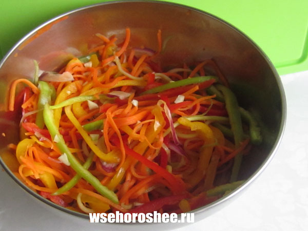 Рецепт салата фунчоза с курицей