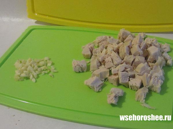 Стеклянная лапша с курицей и овощами рецепт