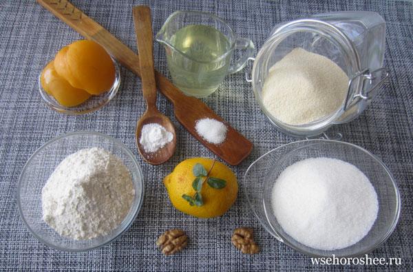 Постный манник в духовке - ингредиенты