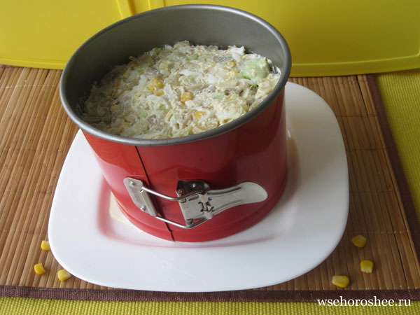 Как украсить пасхальный салат - заполняем форму