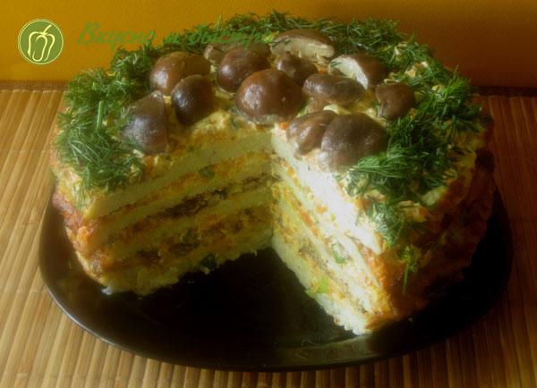 Блинный торт из кабачков - готово