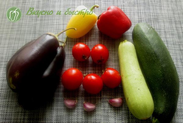 Кабачки на шпажках - ингредиенты