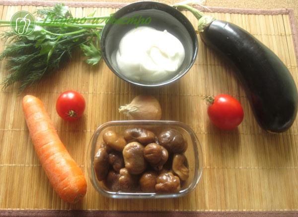 Овощной тортик из кабачков - ингредиенты