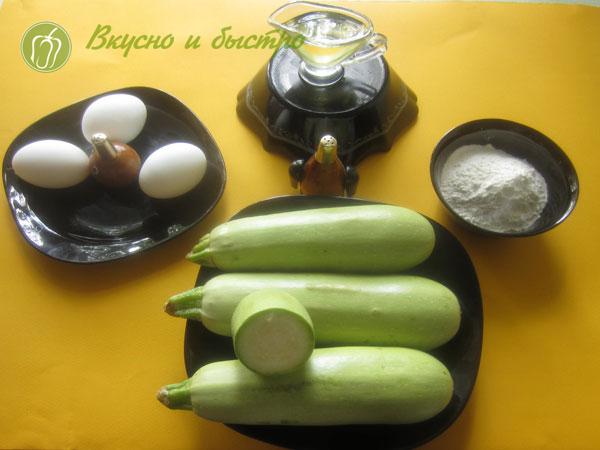 Как приготовить блины из кабачков - ингредиенты