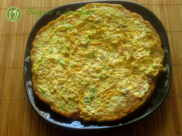 Рецепт вкусного торта из кабачков - первый-слой
