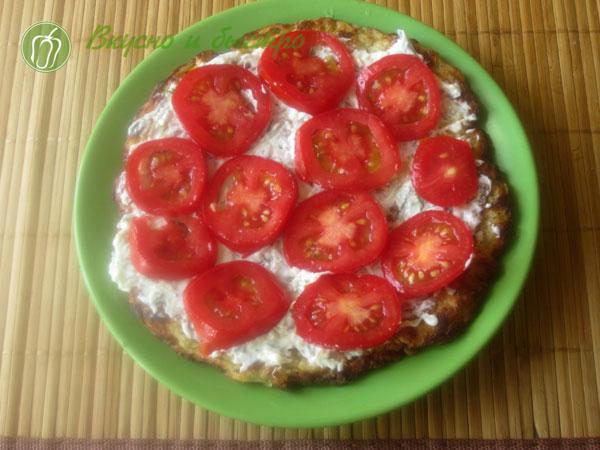 Кабачковый торт с помидорами и сыром - рецепт