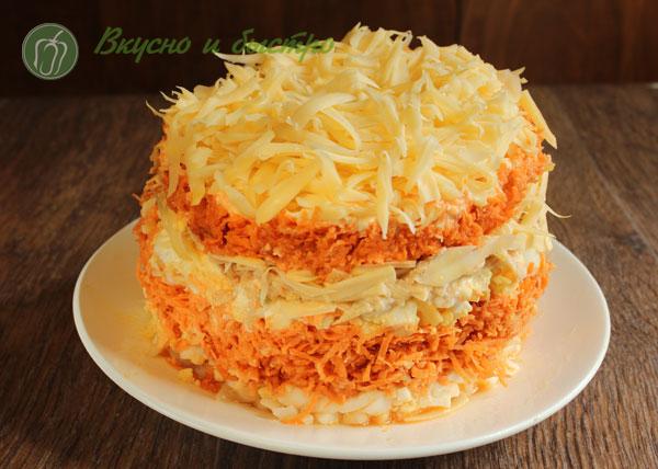 Полезный салат из моркови